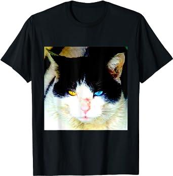野良猫 ねこ オッドアイ カラー ODD EYED Tシャツ