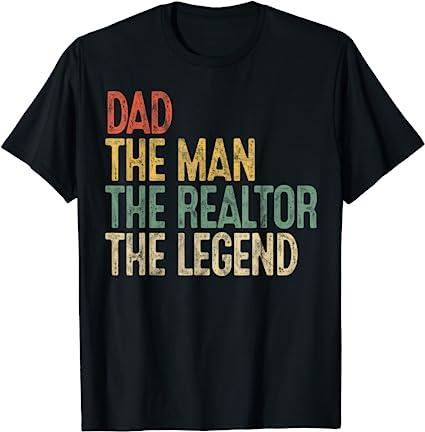 Vintage Dad, Man, Realtor, Legend T-Shirt
