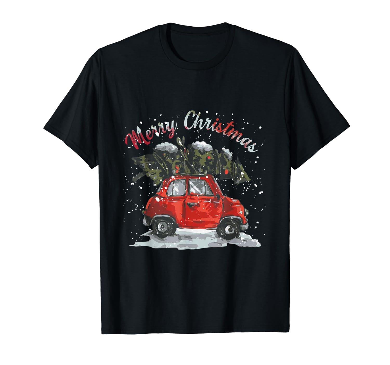 Vintage Wagon Christmas Tree On Car Xmas Vacation Shirts