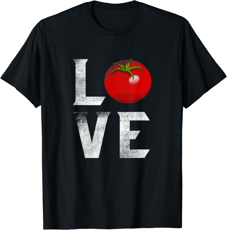 Red Tomato Gardener I Love Gardening Vegetables Vegan Food T-Shirt