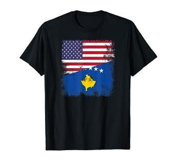 Amazon.com: Camiseta con la bandera de Kosovo de los Estados ...