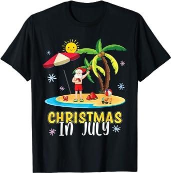 Christmas in July Santa Summer Party for Men Women T-Shirt