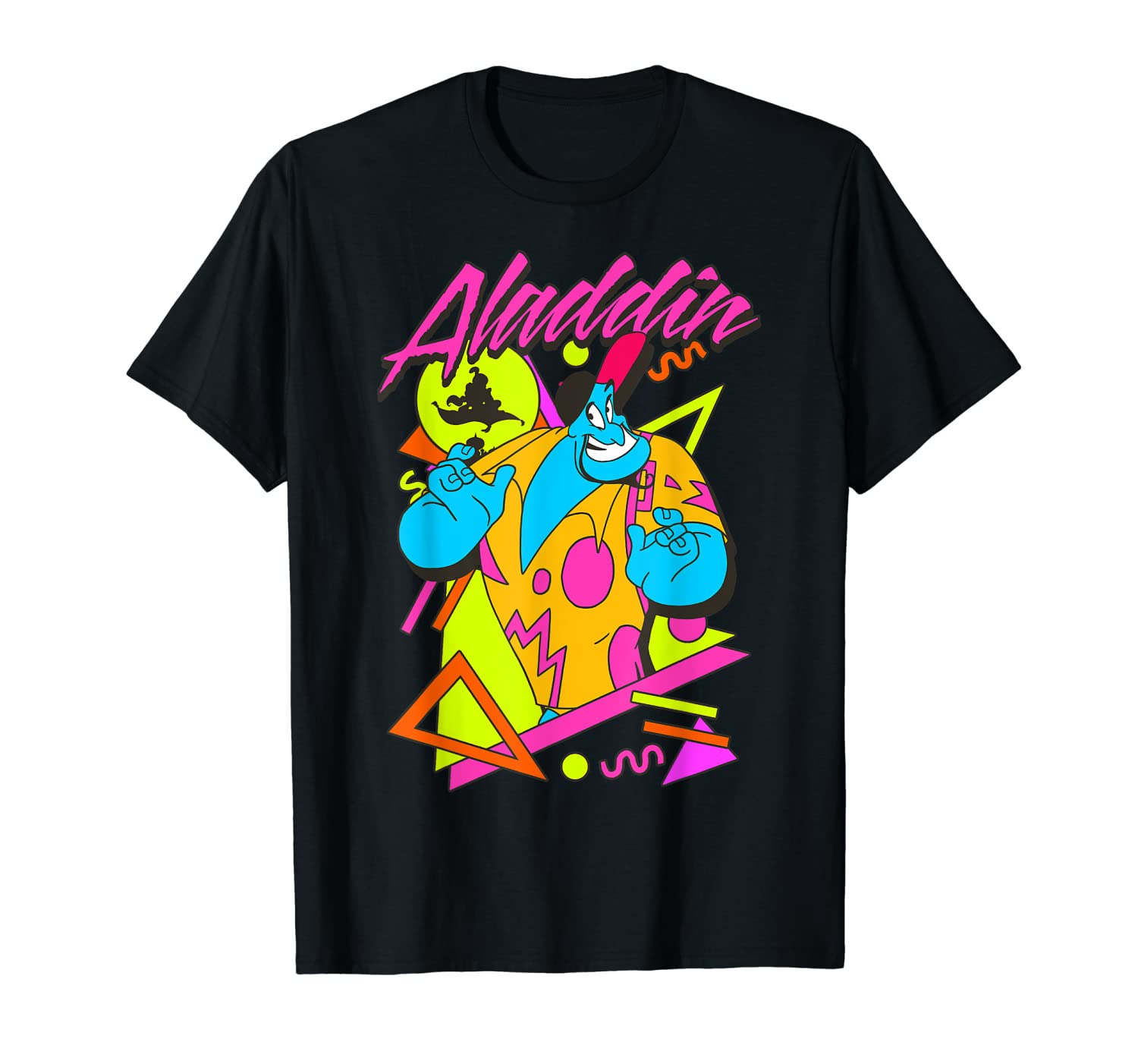 Disney Aladdin Genie In A Shirt Retro Abstract Graphic Tee
