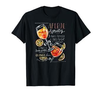 Amazon.com: Aperol Spritz - Camiseta de cóctel con recetas ...