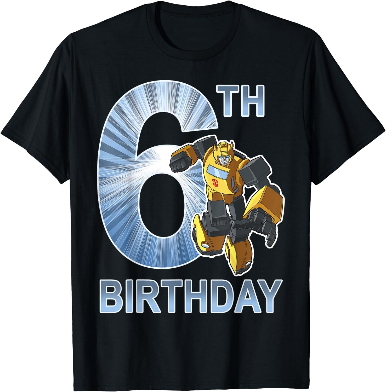 Transformers Bumblebee 6th T-Shirt Birthday 100% quality warranty! Cheap