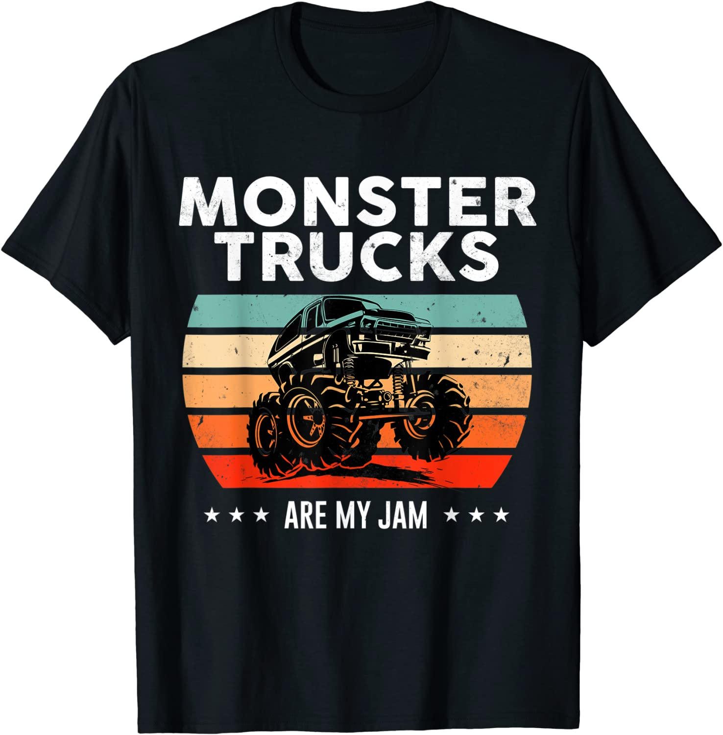 Vintage Monster Truck Are My Jam Engines T-Shi Retro Sunset Cool Columbus Mall Sale item