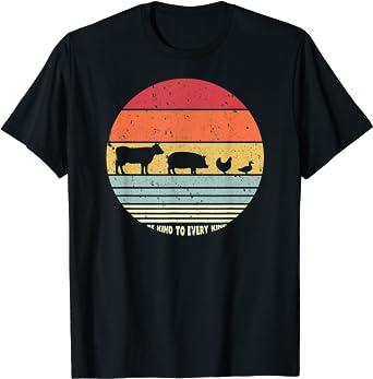 Be Kind To Every Kind T Shirt, Vegan Vegetarian Retro Tee