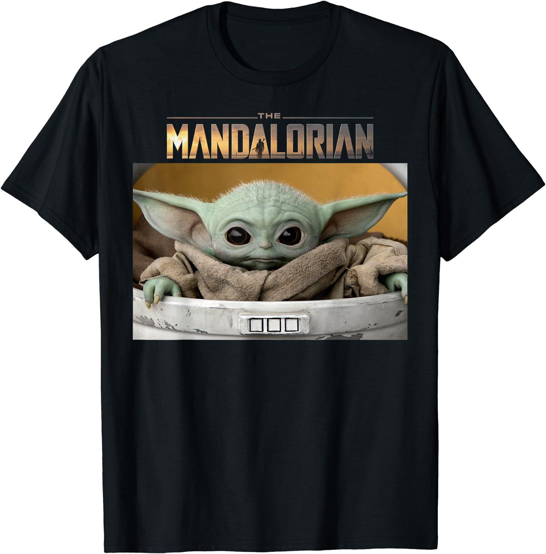 Star Wars The Mandalorian The Child Pod Screenshot Logo T-Shirt