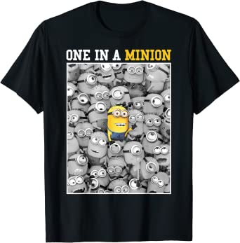 MINIONS Despicable Me Fille Tee-Shirt Blanc
