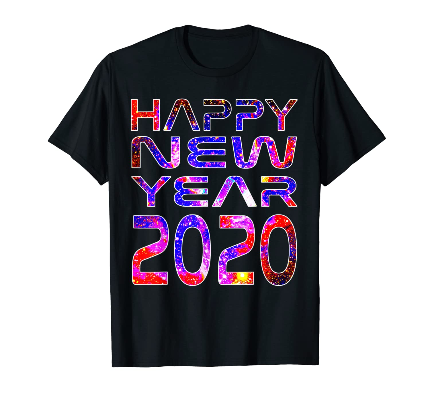 Happy New Year 2020 Space Stars Astronaut Science Geek Gift T-Shirt