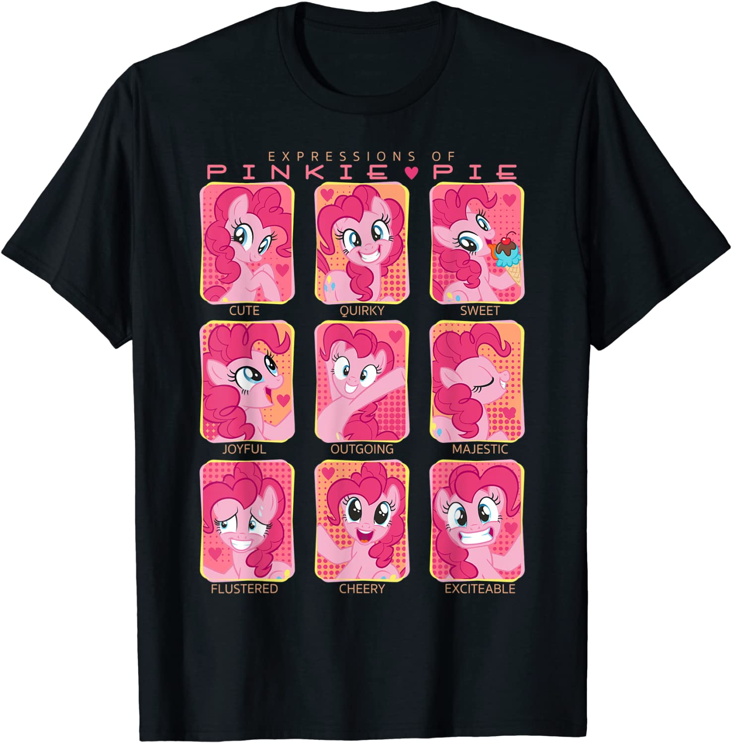 My Little security Pony: Friendship Is T-Shir Import Pinkie Magic Of Expressions