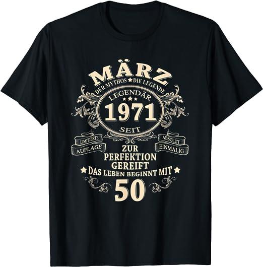 50. Geburtstag Mann Legendär Seit März 1971 50 Jahre Deko