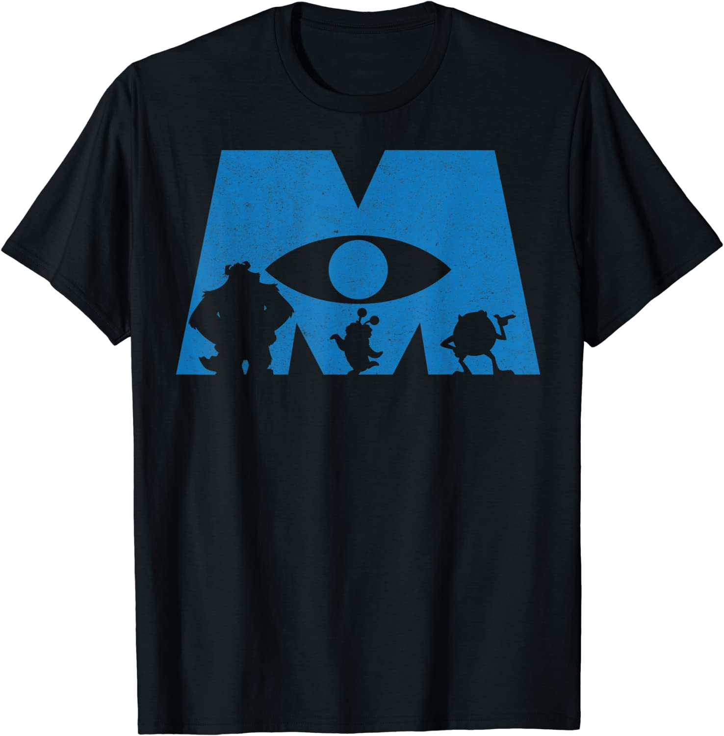 free shipping Disney Monsters Inc. Logo Graphic Silhouette T-Shirt 5% OFF