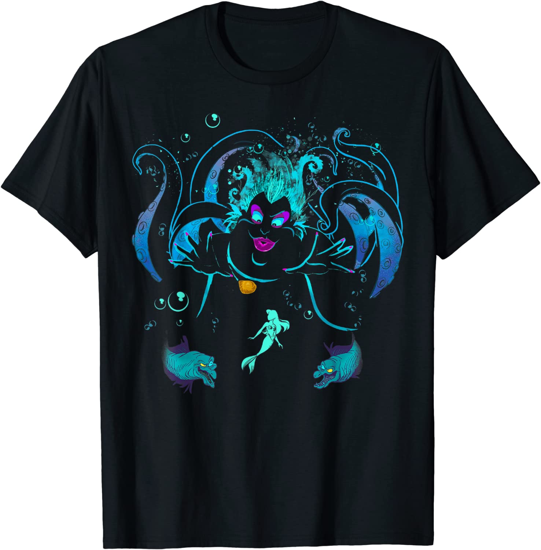 Disney The Little Mermaid Ursula Flotsam And Jetsam T-Shirt