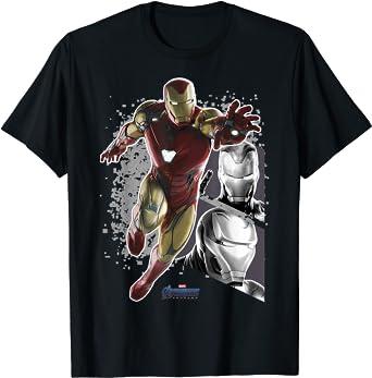 Marvel Avengers Endgame Iron Man Panel Pose T-Shirt