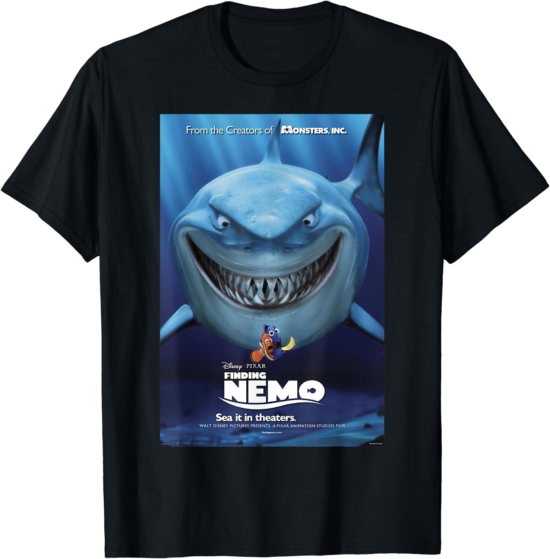 Disney Pixar Finding Now on sale Nemo Bruce T-Shirt Cheap Poster