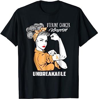Uterine Cancer Fight Warrior Tote Bag Uterine Cancer Support GiftUterine Cancer Survivor Gift Uterine Cancer Awareness Gift Peach Ribbon