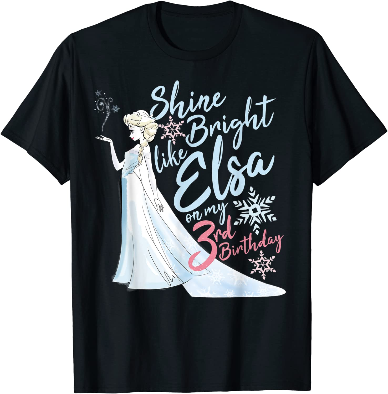 Special price for a limited time Disney Frozen Elsa Shine Bright T-Shirt Birthday My 3rd On Popular products