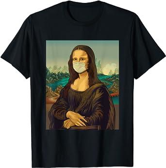 Mona Lisa con mascarilla Leonardo Da Vinci Camiseta