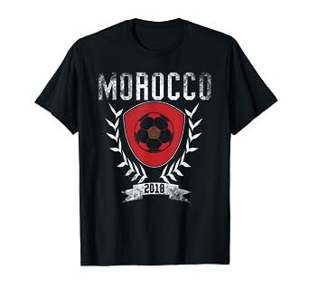 on sale 93858 a30b2 Amazon.com: Moroccan Football Cup 2018 T-Shirt - Morocco ...