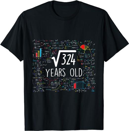 Geburtstag Party Geschenk Wurzel aus 324 = 18 Jahre alt Langarmshirt 18
