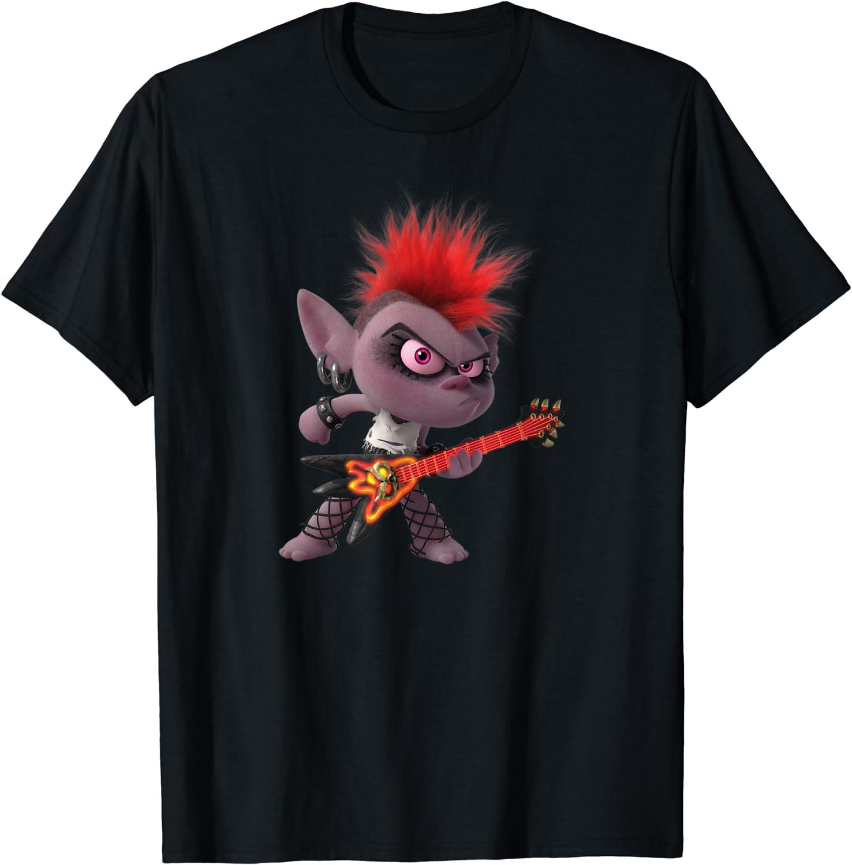 Garçon De Qualité T-Shirt Trolls World Tour Rock Queen Barb Enfants