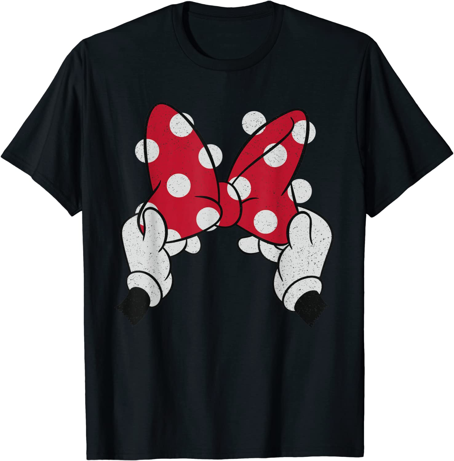 Disney Minnie Mouse's Red Polka Dot Bow T-Shirt
