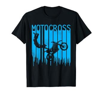 Amazon.com: Vintage Motocross Dirt Bike azul pintura de ...
