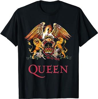 Queen Official License Kids Crest T-Shirt Soft Cotton Boys Girls Children Shirt