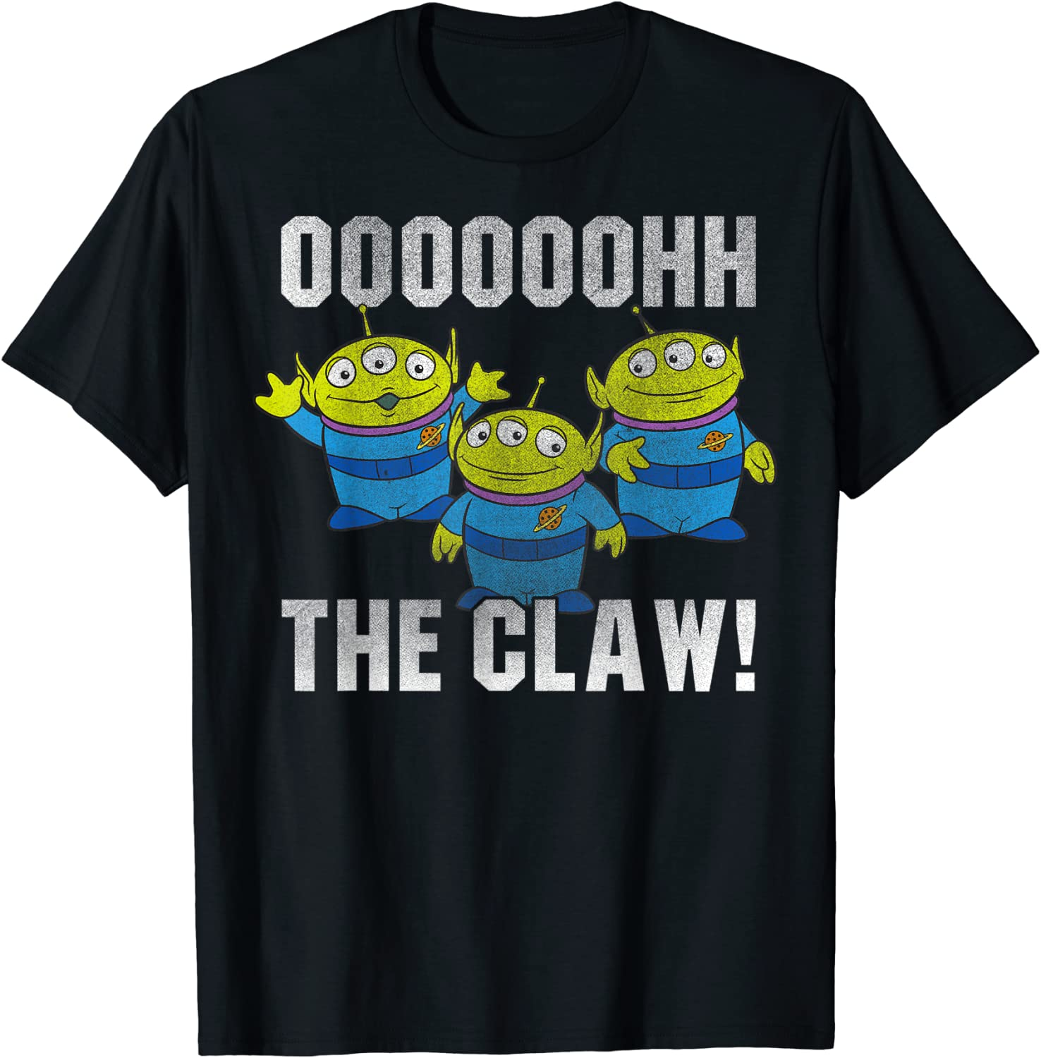 Disney Pixar Toy Story Alien The Claw Distressed T-Shirt T-Shirt