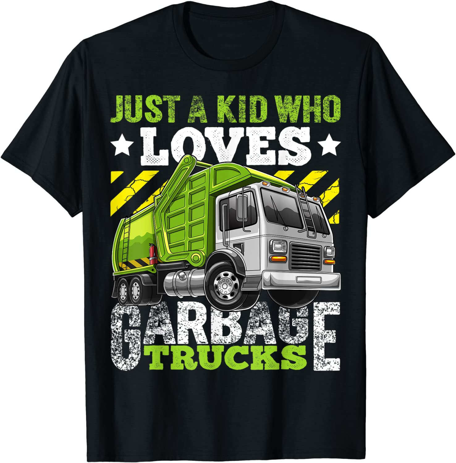 Just a Kid Who Loves Garbage Funny Trucks Ranking TOP4 1 year warranty Boys for Gift T-Sh