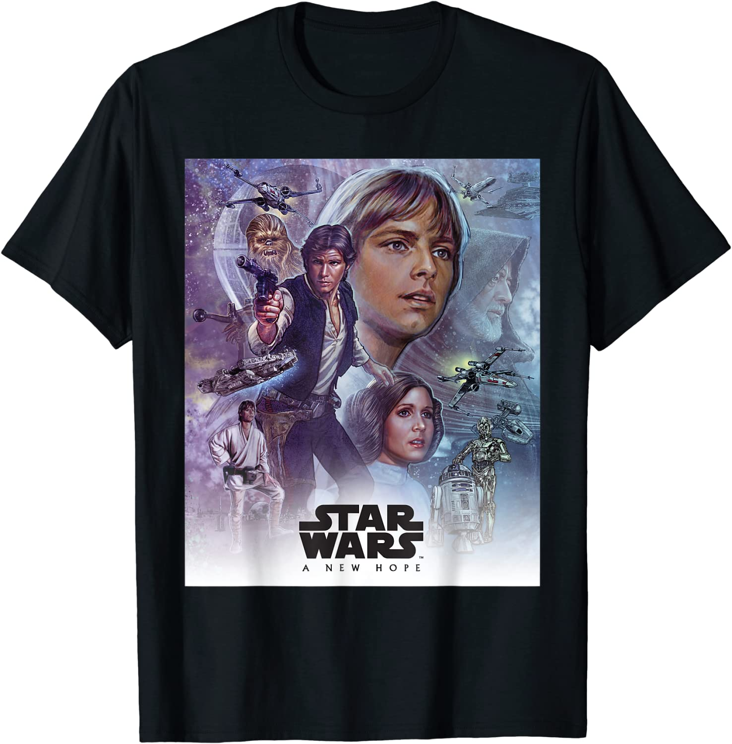 Star Wars Celebration Mural A New Hope Movie Logo T-Shirt