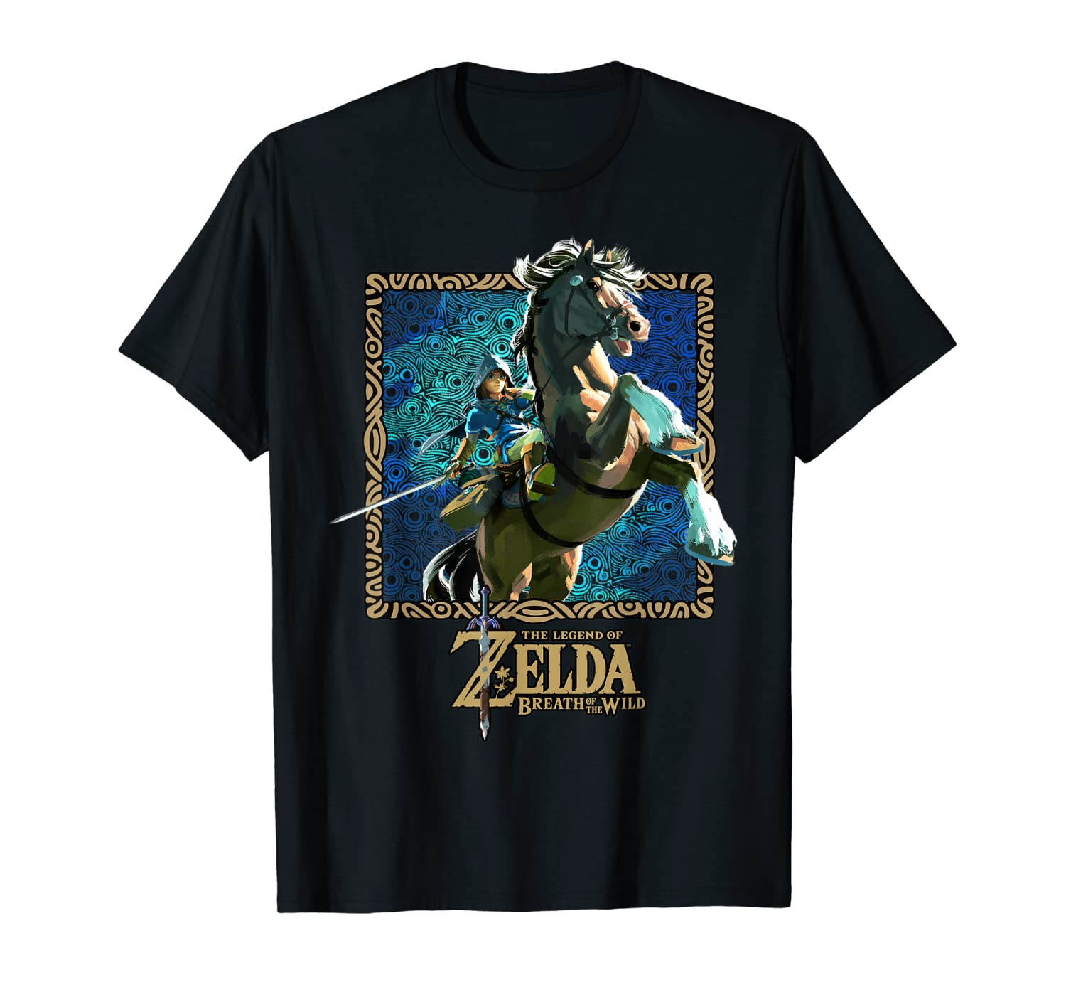 Zelda Breath Of The Wild Patterned Poster T-Shirt
