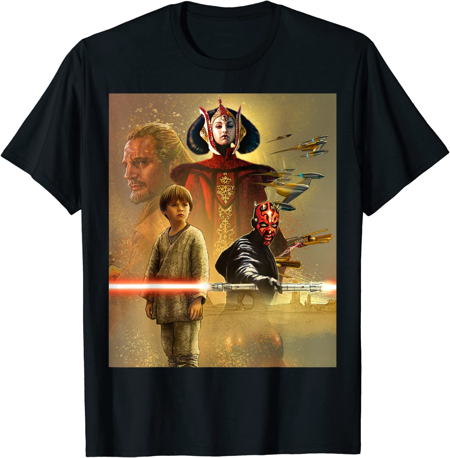 Star Wars Celebration Mural The Phantom Menace T-Shirt