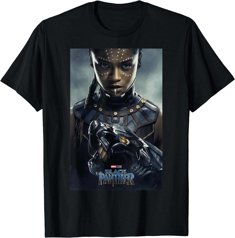 Marvel Black Panther Movie Shuri Poster Graphic T-Shirt