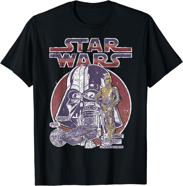 Darth And Droids Comic Amazon Com Star Wars Droids Darth Vader Retro Vintage Comic T Shirt Clothing amazon com