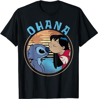 Disney Lilo & Stitch Ohana Circle Portrait T-Shirt