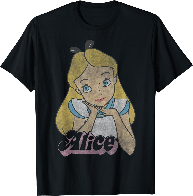 Disney Alice In Wonderland Alice Simple Portrait T-Shirt