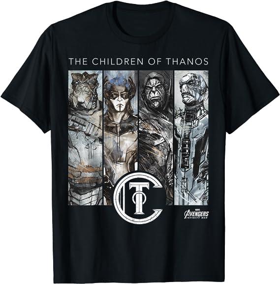 Marvel-Avengers Infinity War-Emblèmes des icônes Logo Enfants Garçons T-shirt 7-12 ans