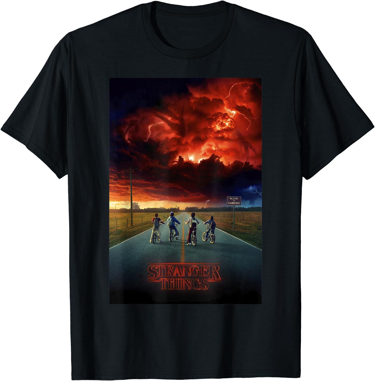 Stranger Things Demogorgon Cloud Poster T-Shirt