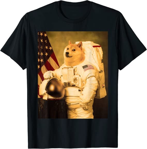 Dogecoin Astronaut Coin Crypto Cryptocurrency Trading T-Shirt