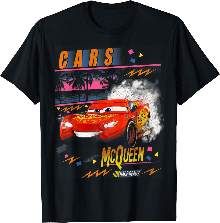 Disney Pixar Cars Lightning McQueen Palm Tree Sunset T-Shirt
