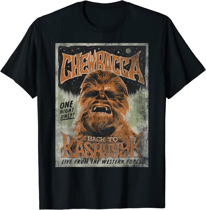 Star Wars Chewbacca Back To Kashyyyk Vintage Concert T-Shirt