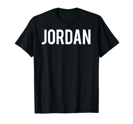 db536fd27e04e5 Image Unavailable. Image not available for. Color  Jordan T Shirt - Cool  new funny name fan cheap gift tee
