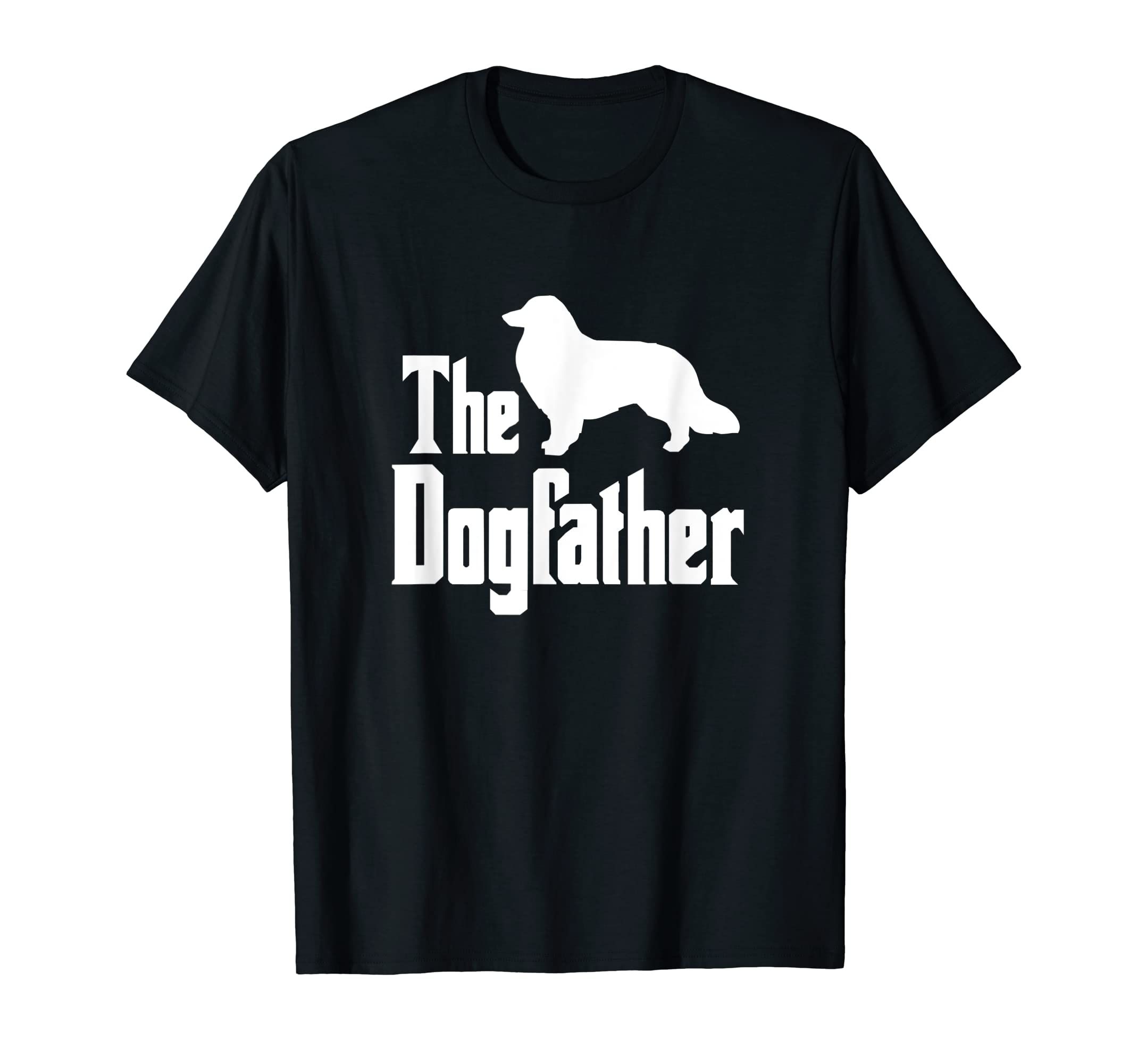 The Dogfather - funny Rough Collie T-Shirt, funny dog gift-Men's T-Shirt-Black