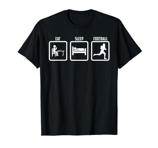 Amazon.com: Cool Funny Graphic Design Eat Sleep And Football ...