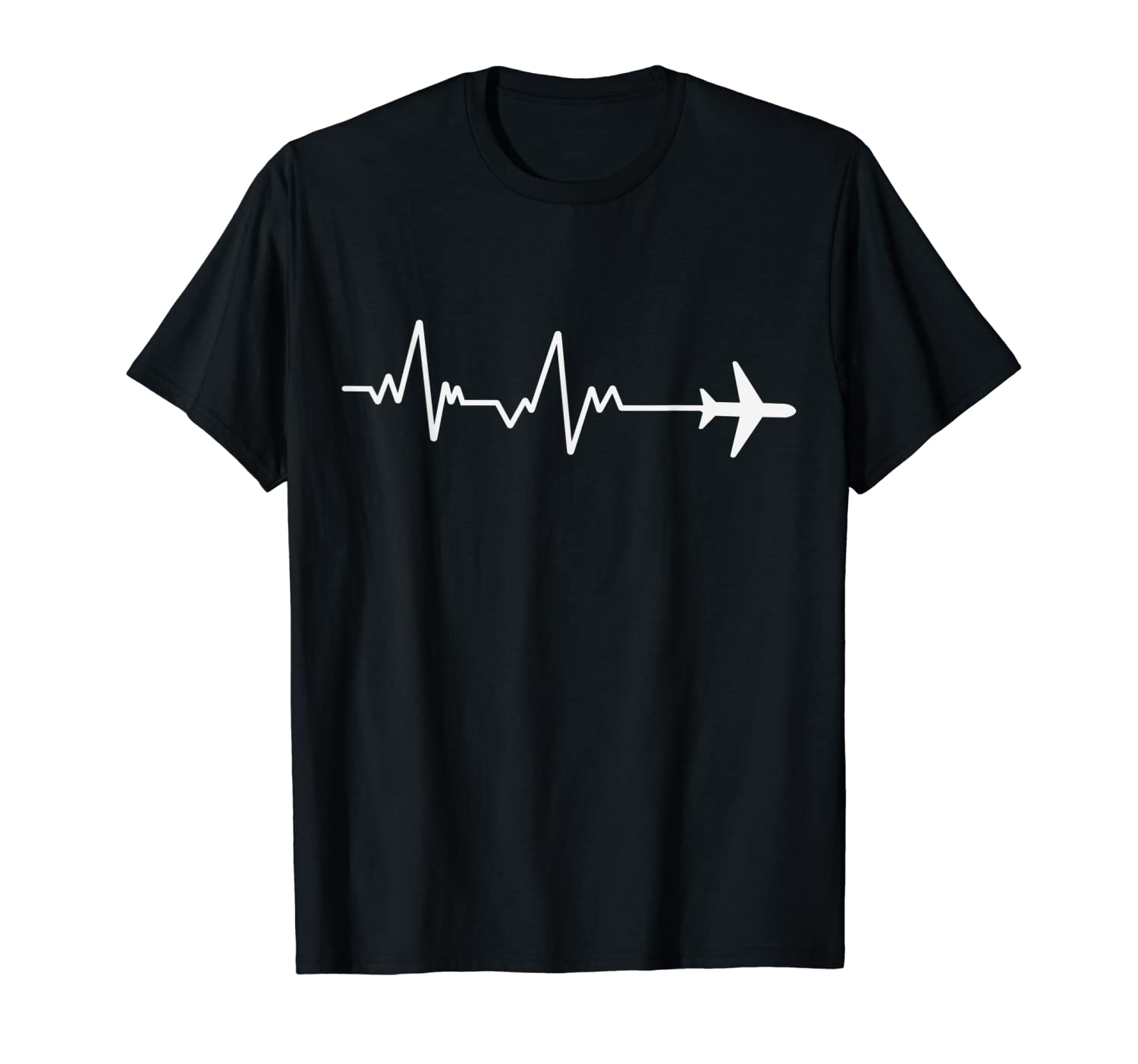 1d7c9ee3 Amazon.com: Heartbeat to travel airplane wanderlust graphic tee shirt:  Clothing