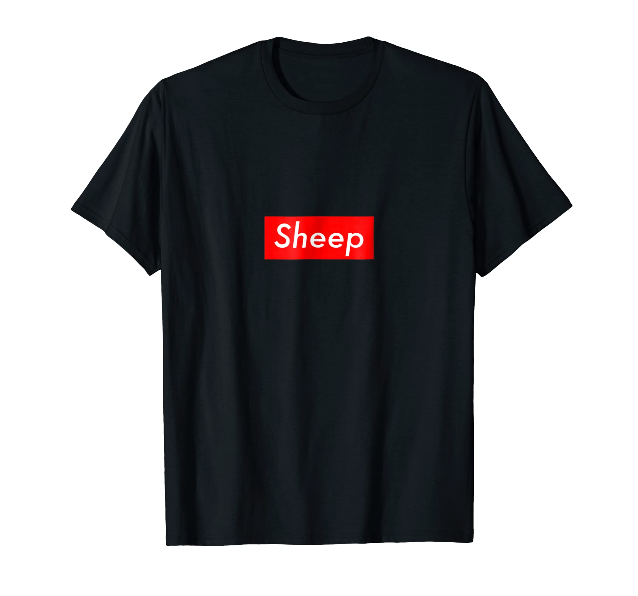 Sheep Box Logo Hype T-Shirt-Men's T-Shirt-Black