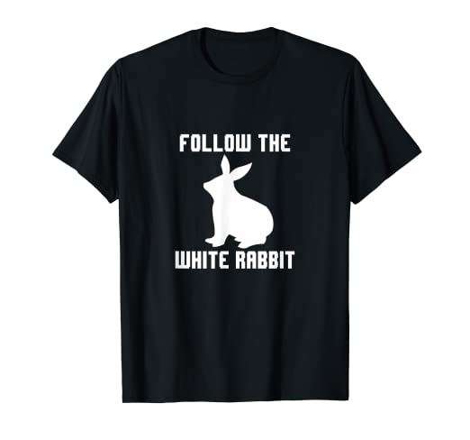 02cc8c179a0 Image Unavailable. Image not available for. Color: Follow the White Rabbit T -Shirt ...
