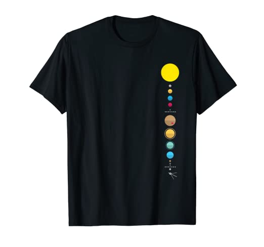 6c6804cc Amazon.com: Minimalist Solar System - Astronomy Science T-Shirt ...